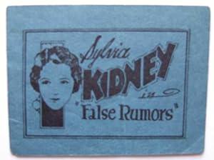 "Sylvia Kidney (Sylvia Sidney) in ""False Rumors"" (Tijuana Bible, 8-Pager): Anonymous"