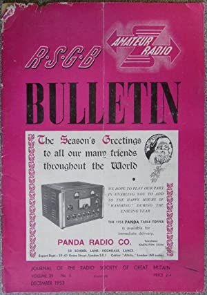 RSGB. Amateur Radio Bulletin Volume 29 No. 6 December 1953