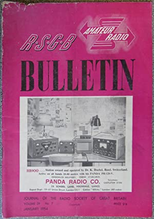 RSGB. Amateur Radio Bulletin Volume 29 No. 7 January 1954