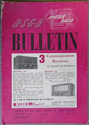 RSGB. Amateur Radio Bulletin Volume 29 No. 8 February 1954