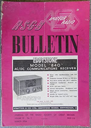 RSGB. Amateur Radio Bulletin Volume 29 No. 9 March 1954