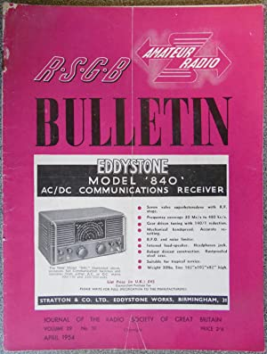 RSGB. Amateur Radio Bulletin Volume 29 No.10 April 1954