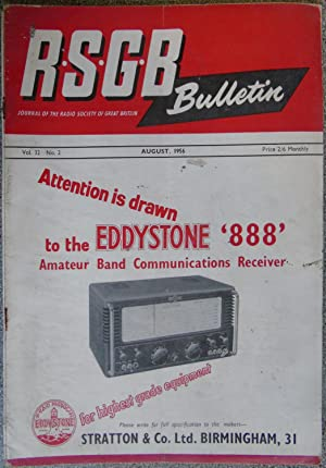 RSGB. Bulletin Volume 32 No.2 August 1956
