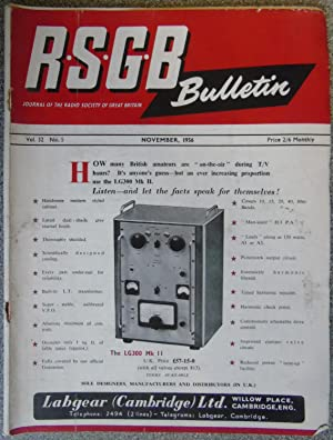RSGB. Bulletin Volume 32 No.5 November 1956