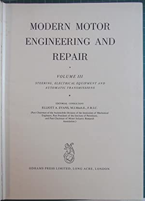 Modern Motor Engineering and Repair Volume III