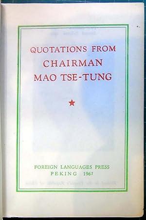 Quotations From Chairman Mao Tse-Tung: editor