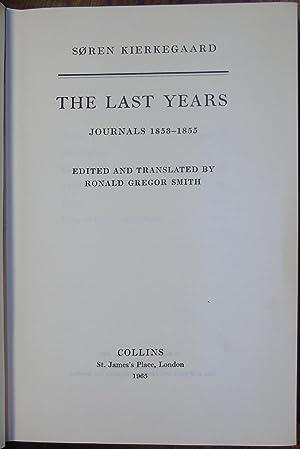 The Last Years Journals 1853-1855: Soren Kierkegaard (trans