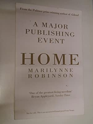 A MAJOR PUBLISHING EVENT - HOME -: MARILYNNE ROBINSON