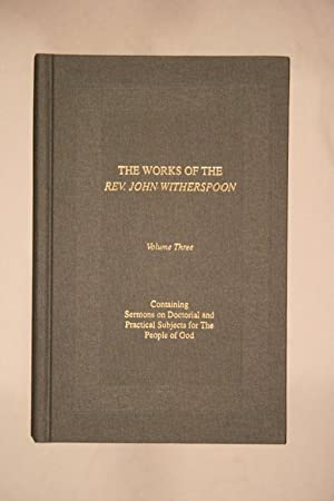 Works, Volume 3: Witherspoon, John