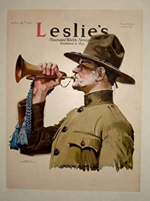 WWI Army Bugler/ Leslie's Weekly 1917 Cover, Paperbacked: Art) LOWELL, Orson