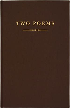 Two Poems (Signed First Edition)