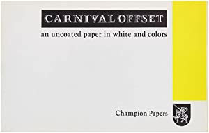 Carnival Offset, An Uncoated paper in White and Colors