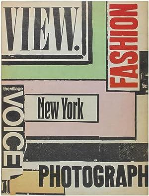 View: A Fashion Magazine: Village Voice]. PEACOCK,