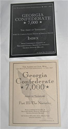 Georgia Confederate 7,000 Army of Tennessee Part III and Part IV