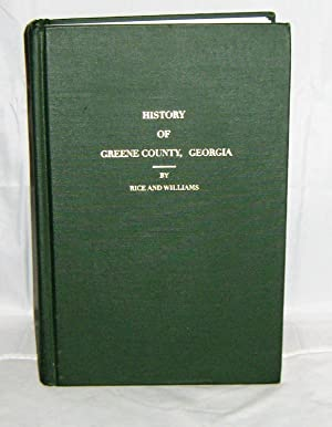 History of Greene County Georgia 1786-1886