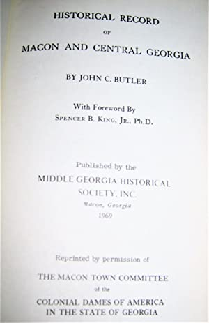 Historical Record of Macon and Central Georgia