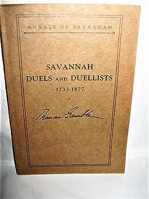 Savannah Duels and Duellists 1733-1877: Thomas Gamble