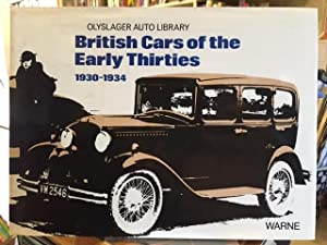 British Cars Of The Early Thirties 1930-1934: Olyslager Organization