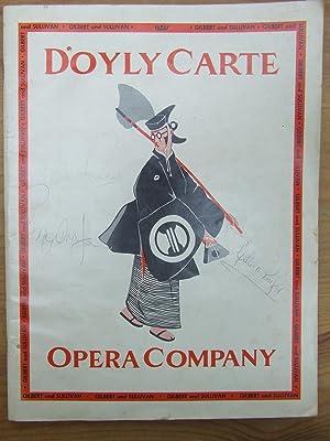 D'Oyly Carte Opera Company - The Mikado - Gilbert & Sullivan - Souvenir Program and ...