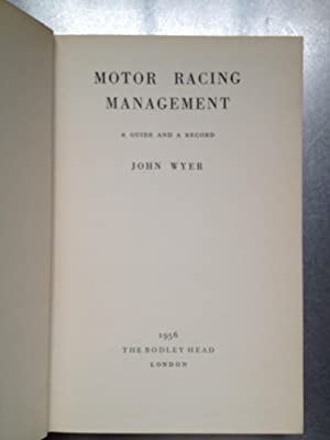MOTOR RACING MANAGEMENT: John Wyer