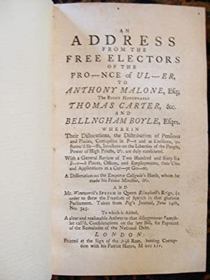 An address from the free electors of: ROBINSON, Christopher]
