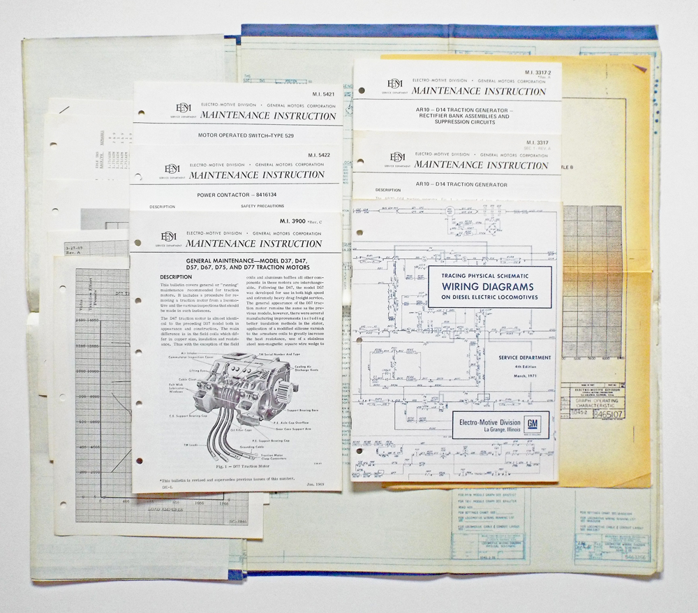 Collection Of Locomotive Schematic Wiring Diagrams Maintenance Motor Diagram Books Manuals And Blue Prints Canadian