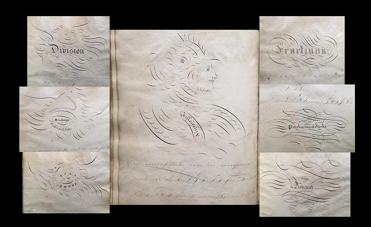 19th Century Manuscript Math Exercise Book (