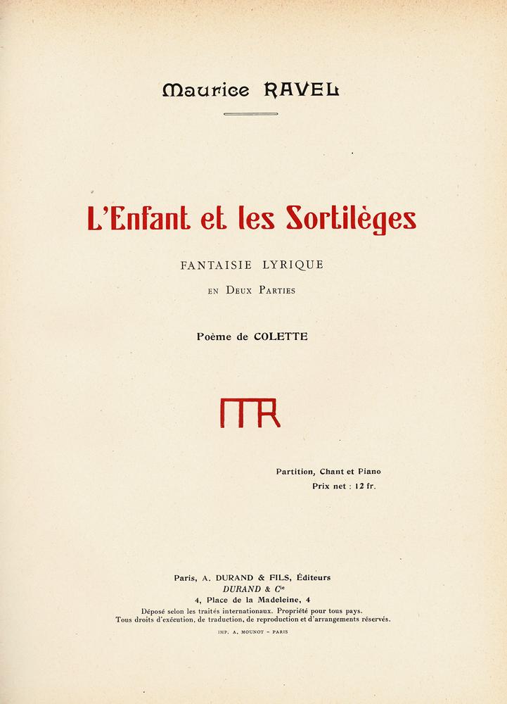 Lenfant Et Les Sortilèges Fantaisie