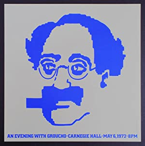 An Evening with Groucho - Carnegie Hall - 1972 (Marx Brothers, Vintage Poster)