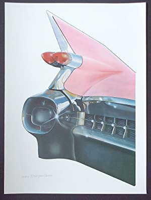 '59 Cadillac (Cleworth, Signed & Numbered Limited Edition Lithograph Print)