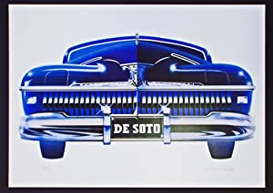 '42 De Soto (Cleworth, Signed & Numbered Limited Edition Lithograph Print)