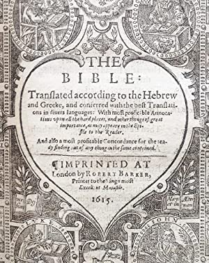 The Bible : Translated According to the