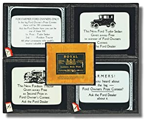 Ford Model A Tudor and Fordson Tractor Give Away Contest as Shown on Magic Lantern Glass Slides c...