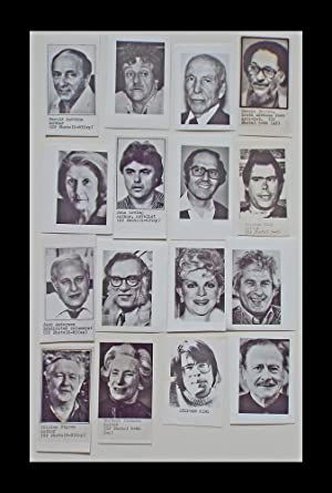 16 B&W Press Photographs of Famous Authors, Poets & Playwrights (Stephen King, Isaac Asimov, John...