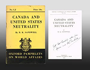 Canada and United States Neutrality (Signed by Author)