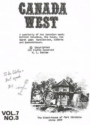 Canada West Magazine. Vol. 7 No. 3: Barlee, N.L. (Bill)