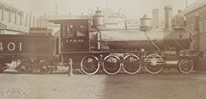 William Notman - Builder's Photograph of CPR Steam Locomotive No. 401 at Montreal New Shops in 1886