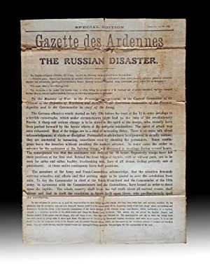 Special Edition / Gazette des Ardennes / The Russian Disaster. July 25th 1917 (WWI Aerial Dropped...