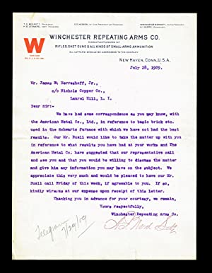 Winchester Repeating Arms Company (Typed Letter Signed)
