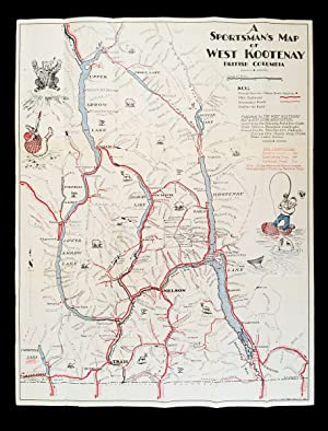 A Sportsman's Map of West Kootenay British Columbia (Columbia River Treaty, Flooding, Dams, Hydro...