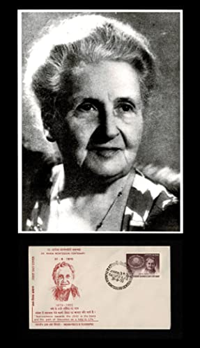 Photographic Portrait of Maria Montessori * together with * Maria Montessori 1970 Literacy Day - ...