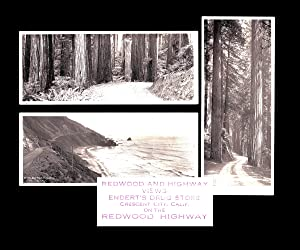 [California, Oregon] 3 Frank Patterson Panoramic Photographs of The Redwood Highway c. 1925