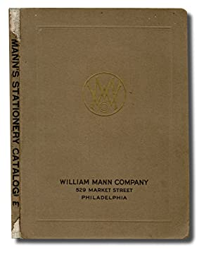 [Trade Catalogue, Penmanship] Mann's Commercial Stationary Catalogue : Bank and Office Stationary...