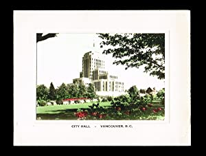 Hand Tinted Photograph of Vancouver's Art Deco City Hall
