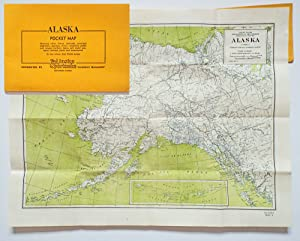 Alaska Pocket Map : Showing Cities, Towns, Railroads, Principal Highways, Glaciers, Rivers, Mount...