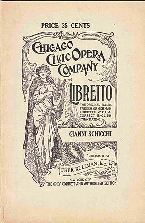 Gianni Schicchi Libretto (Original Italian and English Translation): Puccini, Giacomo