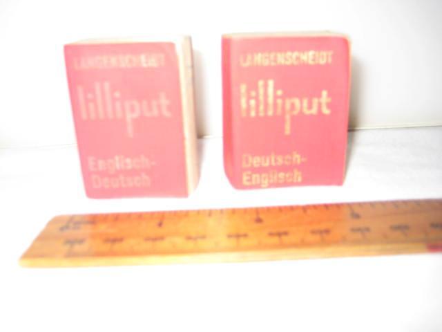 Langenscheidt 39 s lilliput dictionary englisch deutsch for Dictionary englisch deutsch