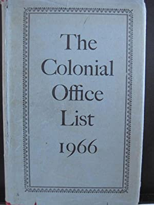 The Colonial Office List 1966