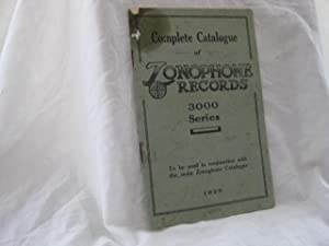 Complete Catalogue of Zonophone Records 3000 Series - 1925