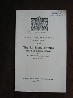 The Rh Blood Groups and Their Clinical Effects: Medical Research Council Memorandum No. 19.